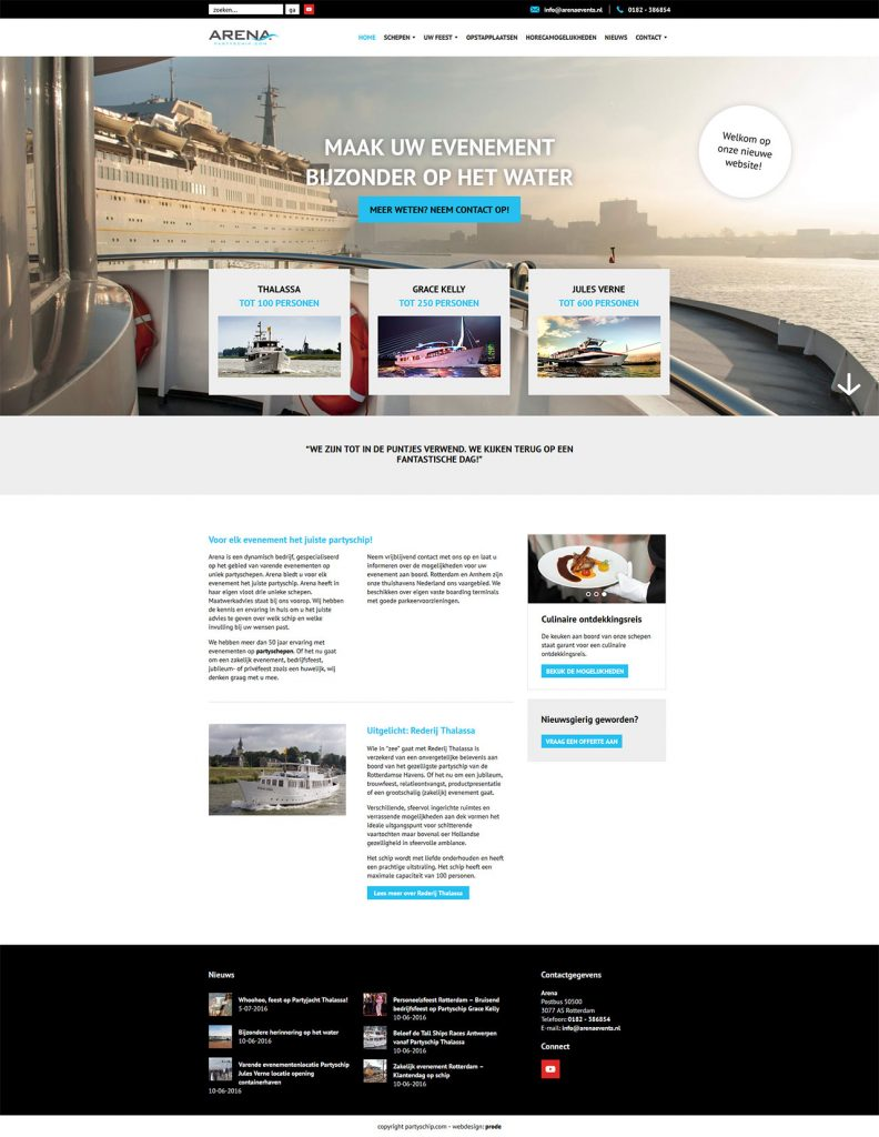 Prode-Partyschip-website