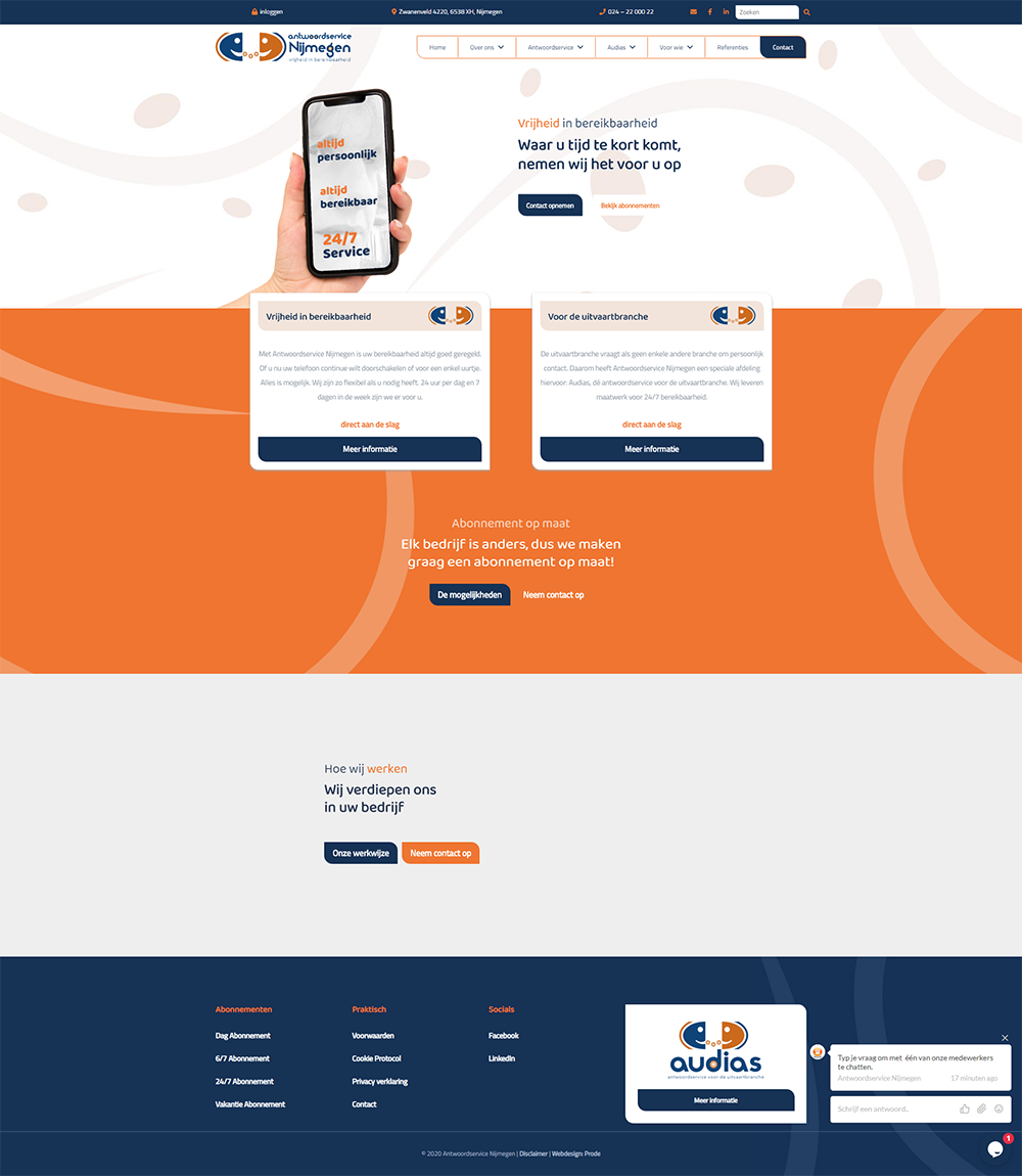 prode-portfolio-antwoordservicenijmegen-screenshot